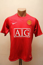 SIZE S MANCHESTER UNITED 2007/2008/2009 HOME FOOTBALL SHIRT JERSEY NIKE ENGLAND