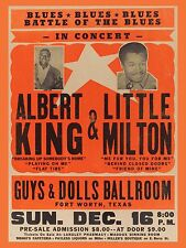 "Albert King / Little Milton Texas 16"" x 12"" Photo Repro Concert Poster"