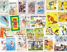 Sellos de los Juegos Olímpicos 300 todos los diferentes todos los deportes de gran tamaño mediano