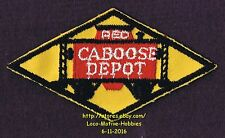 LMH Patch  RED CABOOSE DEPOT Restaurant STRASBURG Railroad Cupola Station 4-1/2""