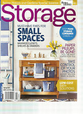 STORAGE, SPRING, 2015 ( MUST- HAVE FIXES FOR SMALL SPACES ) TAKE CONTROL OF YOUR