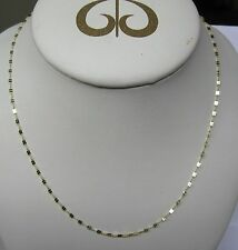 """14K SOLID GOLD 22"""" FANCY CHAIN NECKLACE ITALY VERY SPARKLY"""