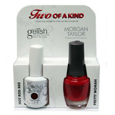 Harmony - Two of a Kind - Gelish Hot Rod Red & Morgan Taylor Pretty Woman