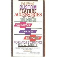 1963 Chevrolet Accessories Brochure Corvair Chevy II 6757-V2H3YB