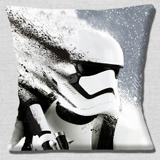 "NEW STAR WARS STORMTROOPER 'THE FORCE AWAKENS'  CLOSEUP 16"" Pillow Cushion Cover"