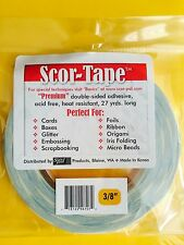 "Scor-Tape Adhesive 3/8"" x 27yd by Scor-Pal - FREE SHIPPING!!!"