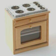Mobili per casa delle bambole: cucina in legno chiaro/unità forno: SCALA 12th
