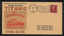 Personalized Titanic Postcard & Autograph Reprint on Original Period Paper *012
