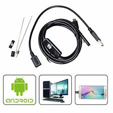 6LED OTG 7mm USB Endoscope Inspection Camera Borescope 2m For Android Waterproof