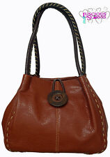 New Ladies Big Button Faux Leather Shoulder Bag Handbag Available in 10 Colours