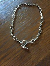 """18"""" JUDITH RIPKA .925 STERLING SILVER ROLO CIRCLE LINK CHAIN TOGGLE NECKLACE"""