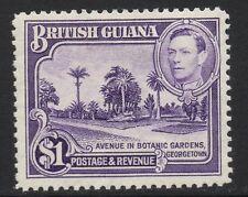BRITISH GUIANA SG317 1938 $1 BRIGHT VIOLET MTD MINT