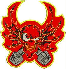 """WINGS SKULL LARGE REAPER  11""""x11"""" - sew on biker back patch, anarchy, rock"""