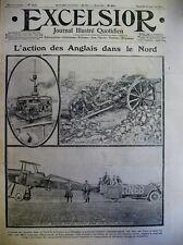 WW1 ACTION DES ANGLAIS DANS LE NORD ET EN BELGIQUE JOURNAL EXCELSIOR 16/01/1915