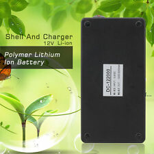 20000mA Super Polymer Lithium Ion Battery 12V Black Plastic Shell And Charger@D