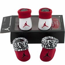 Nike Air Jordan Red White Baby Infant Boys Booties Shoes Crib 2 Pair 0-6 months