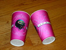 2 Chicago Bears Football Pink Breast Cancer Hologram 18 Oz Capital Plastic Cups