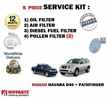 FOR NISSAN NAVARA + PATHFINDER D40 2.5 2006-  OIL AIR FUEL POLLEN 5 FILTER KIT