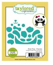 Taylored Expressions Cutting Die Set ROLY POLY ~ PANDA Animal, Bear  ~TE739