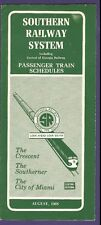 1968 Southern Railway System Time Tables / Schedules