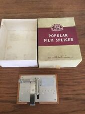 ROSS ENSIGN POPULAR FILM SPLICER BOXED IN GOOD CONDITION 8mm