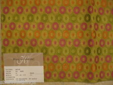 Highland Court Mod Eames Oval Embroidered Upholstery Designer Fabric Sample Lime