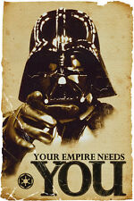 Star Wars POSTER Your Empire Needs You Darth Vader Movie Humour BRAND NEW Art