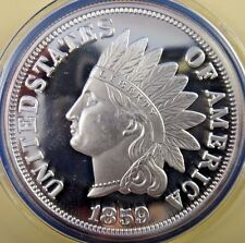 America's Legendary Coins Indian Head Penny 2 Oz 999 Fine Silver COA 47mm