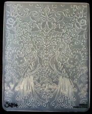 Sizzix grand 4.5x5.75in embossing folder paons peacock fleurs