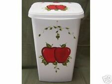 HAND PAINTED APPLE TRASH CAN/HAMPER/SOLID APPLES