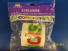 Congrats Graduation Retirement Congratuations Party Decoration Crepe Streamer
