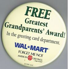 "Great Grandparents American Greetings Card 3"" Advertising Pinback Button WalMart"