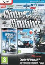 Winter Simulators 2 in 1 Game Pack - Ski World 2012 & Snowcat Simulator - New