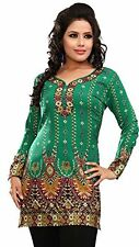 Womens Tunic Top  Short  Kurti Indian Ethnic Blouse Size 16