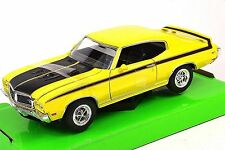 BUICK GSX 1970 WELLY 22433 1:24 YELLOW OPENING BONNET HOOD DOORS