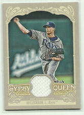 2012 Gypsy Queen RELIC Jeremy Hellickson Tampa Bay Rays P GAME-USED White Swatch