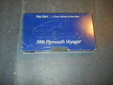 1996 PLYMOUTH VOYAGER VHS TAPE CASSETTE 1996