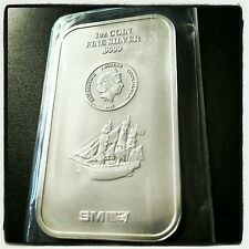 2015 Cook Islands Bounty Bar .9999 Fine Silver 1 Oz Bullion Mint Sealed