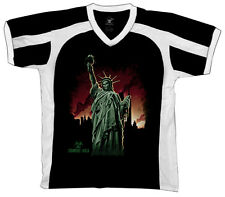 Statue of Liberty Zombie USA Plague Death Horror Scary Retro Sport T-shirt