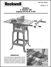 Delta Rockwell 9 Inch Builders Table Saw Manual