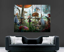 ALICE IN WONDERLAND POSTER LOOKING GLASS ART PICTURE PRINT LARGE MOVIE FILM