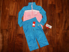 NWT Girls PUMA 2 Pc White Blue Pink Track Suit Size 2T