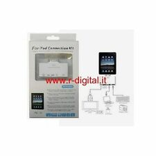 CARD READER KIT IPAD PORTA USB + ENTRATA AV AUDIO VIDEO LETTORE CONNETTORE