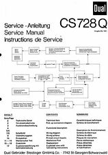 Dual Service Manual für CS 728 Q