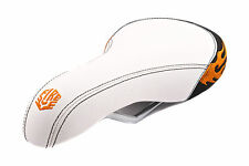 FLAME PATTERN DOWNHILL MTB SADDLE OR CRUISER/DRAGSTER SEAT WHITE NOW 60% OFF