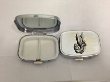 Angel Christian L1 English Pewter Emblem on a rectangular Metal Travel Pill Box