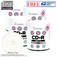 400-Pack SmartBuy Blank CD-R 52X 700MB/80Min White Top Surface Record Media Disc