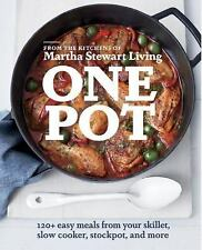 ONE POT Martha Stewart Cookbook 120+ Easy Meals Skillet Slow Cooker Stockpot NEW