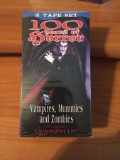 100 Years of Horror: Vampires, Mummies, and Zombies (VHS) Host Christopher Lee