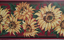 Classic Birge  Wallcovering  Sunflower Wallpaper Border Design